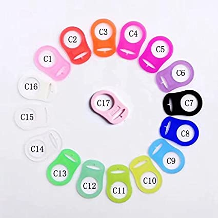 10 Pcs Silicone Pacifier Ring Holder Clip Adapter borte Assorted Color Dummy Soother Button Ring for Baby