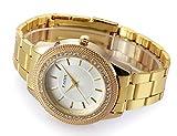 Tzou Mens Gold Watches Diamond Dial Gold Steel Analog Quartz Wrist Watch