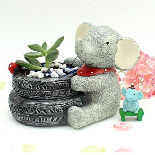 VORCOOL Cartoon Elephant Flower Pots Children's Room Desktop Decor Potted Flowerpot Creative Home Decoration Flower Vase by VORCOOL (Image #7)