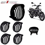 Allextreme Cap Headlight Grill, Cap Indicator Set, Tail/Back Light Grill With Screws For Avenger Street 150,220,Avenger Cruise 220