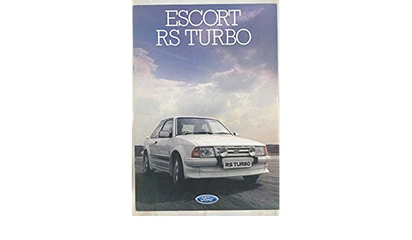 Amazon.com: 1985 Ford Escort RS Turbo Brochure England: Entertainment Collectibles