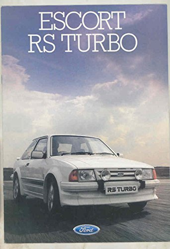 1985 Ford Escort RS Turbo Brochure England