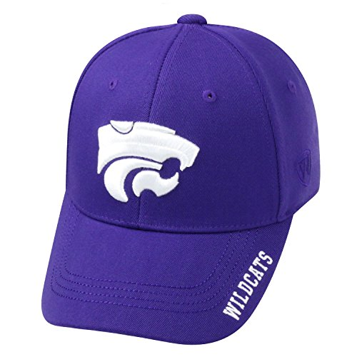 Top of the World NCAA-Premium Collection-One-Fit-Memory Fit-Hat Cap-Kansas State Wildcats (State Cap Wildcats)