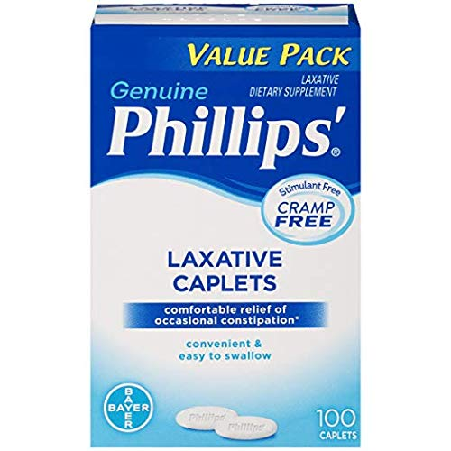 Phillips' Laxative Caplets (100-Count Box) - Pack of 3