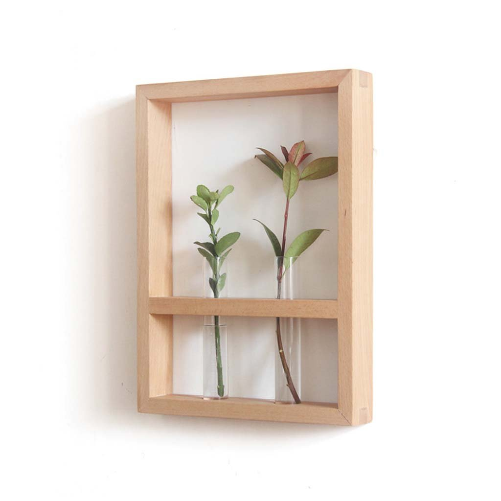 AIDELAI flower rack Solid wood flower racks indoor single plant walnut creative furniture wooden home wall decoration Patio Garden Pergolas (Style : A) by AIDELAI (Image #1)