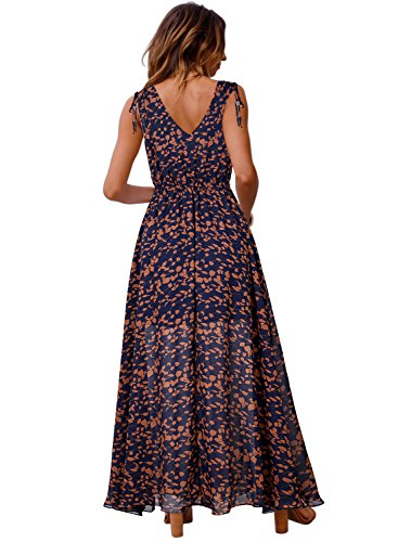 Boho Blooming Dress V Deep Down Summer Lace Strap Neck Floral Midi Womens Spaghetti Blue Button Jelly xIwq6TrRI