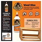 Gorilla Wood Glue, 36 ounce Bottle, Natural Wood