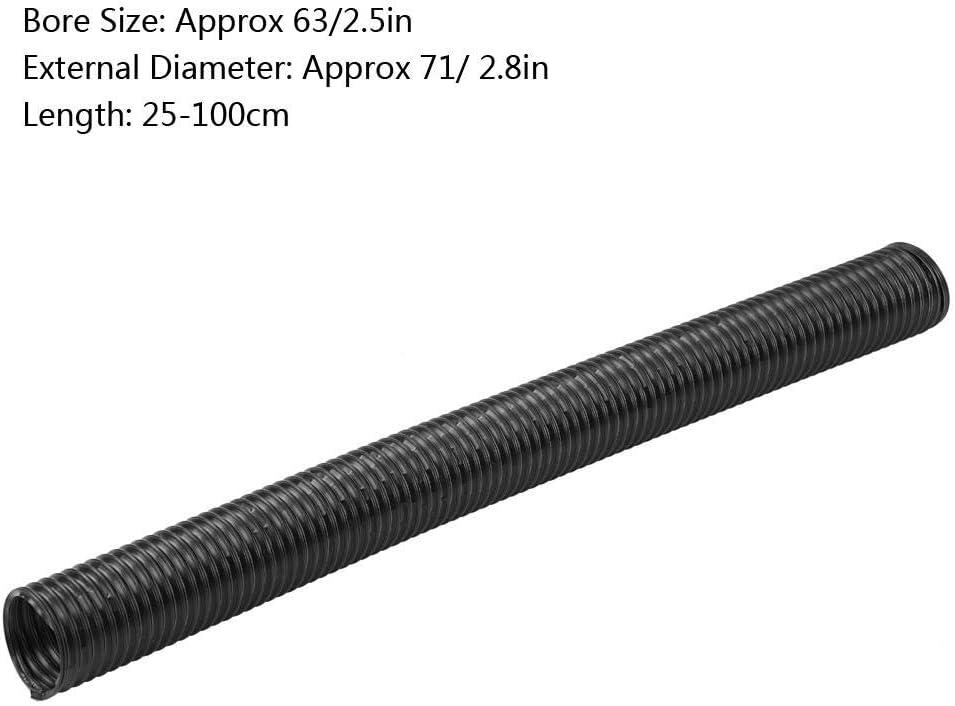 Conduit dadmission dair modifi/é pour la voiture tuyau de dilatation flexible de tuyau dexpansion dadmission dair modifi/é dadmission dair universel de 63mm 76mm 63mm