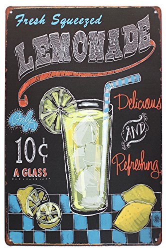 UOOPAI Fresh Squeezed Lemonade Vintage Metal Sign]()