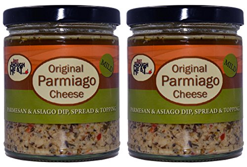 Original Parmiago Cheese - Parmesan & Asiago Marinated Cheese Dip, Spread & Topping - 2 Pack by Just Enough Heat -