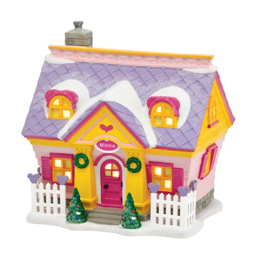 Department 56 Disney Village Minnie s House Lit Building, 5.9 inch