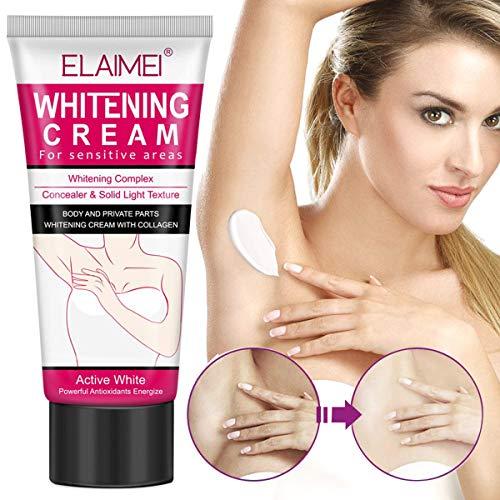 Underarm Whitening Cream, Armpit Lightening & Brightening Deodorant Cream, Natural Body Cream with Antioxidant Herbs Botanicals, Whitening Cream for Face, armpit, between Legs and Knees