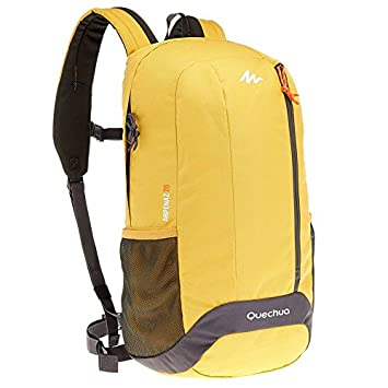 Decathlon X de Sports Quechua Hiking Camping Water Repellent Backpack arpenaz, Amarillo, Gris: Amazon.es: Deportes y aire libre
