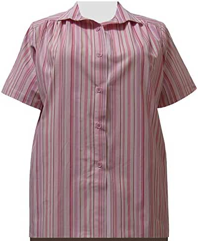 A Personal Touch Women's Plus Size Pink Stripe Tunic