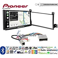 Volunteer Audio Pioneer AVIC-W8400NEX Double Din Radio Install Kit with Navigation, Apple CarPlay and Android Auto Fits 2003-2011 Town Car