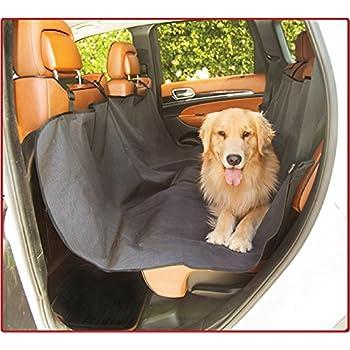 Majestic Black Hammock Dog Car Seat Cover Waterproof Non Slip Rear Bench Protector Universal Auto