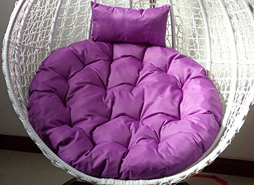 JRG Round Canvas Chair Cushions Hanging Chair Seat Lumbar Supports Cradle Wicker Cushion Removable and Ashable Indoor Balcony Pad-I