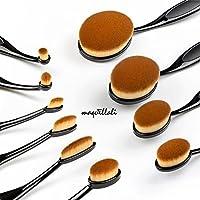Maquillali Nuevo diseño Brocha Oval Profesional de Maquillaje con Mang
