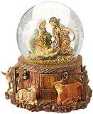 "7.5"" Fontanini Musical Lighted Nativity Stable Scene Christmas Snow Globe Glitterdome"