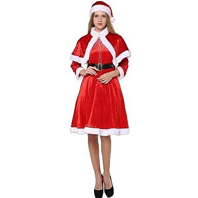 EraSpooky Mujer Adulto Santa Papá Noel Navidad Novedad Disfraz ...