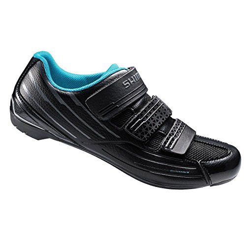 Shimano SH-RP2 Women's Touring Road Cycling Synthetic Leather Shoes, Black, 42