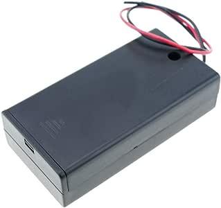 BeMatik - Portapilas en Caja para 2 Pilas LR6 AA 1.5V: Amazon.es: Electrónica