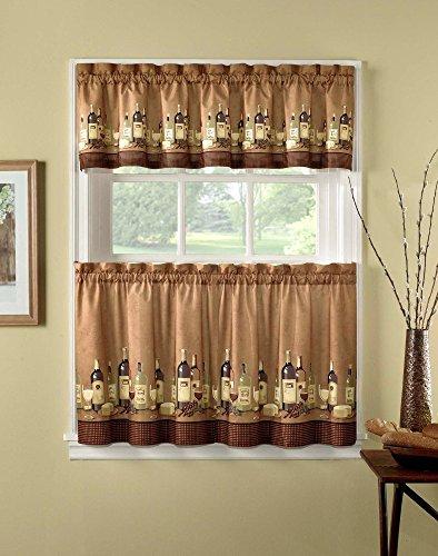 CHF Industries Wines Kitchen Curtain Set (Inc Furniture Vineyard)