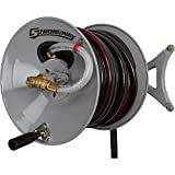 Strongway Parallel or Perpendicular Wall-Mount Garden Hose Reel - Holds 150ft. x 5/8in. Hose offers