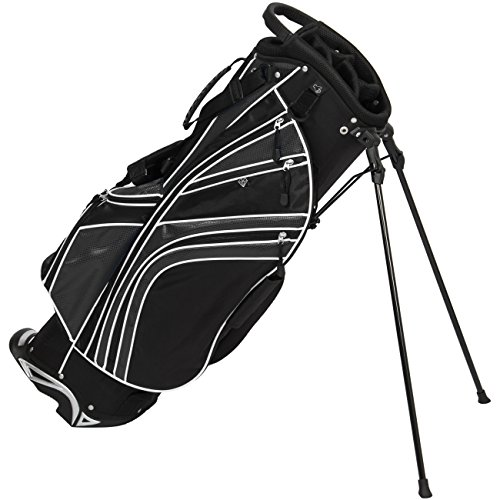 Best Choice Products 7-Pocket Padded Golf Bag Stand w/6 Way Divider, Organizer, and Carry Straps - (Best Golf Carry Bag)