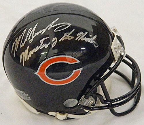 Mike Singletary Signed Bears Replica Mini Helmet w/Monsters of the Midway- Authentic Autograph