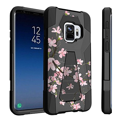 Untouchble Case for Samsung Galaxy S9 Plus, S9+ Case [Traveler Series] Shock Absorbing Drop Protection Dual Layer Case - Pink Cherry - Cherry Phone Case Cell