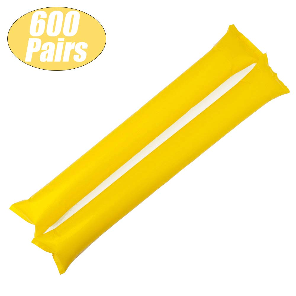 GOGO Bam Bam Thunder Sticks Sports Cheerleading Inflatable Party Noisemakers Wholesale Yellow 600 Pairs