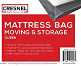 CRESNEL QUEEN Size Super Thick Heavy Duty Mattress Bag – Fits Standard, Extra-Long, Pillow-top variation – Durability guarantee for moving and long term storage