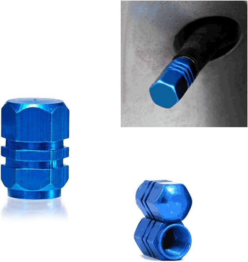 Singeru Mehrfarbig Ventilkappen Metall Auto Reifen Ventilkappen Reifen Zubeh/ör 8-TLG /¤9mm x 16mm Blau