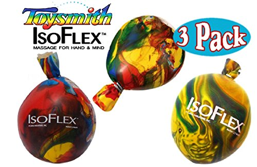 Stress Ball Game (Toysmith IsoFlex Stress Balls Assorted Bundle - 3)