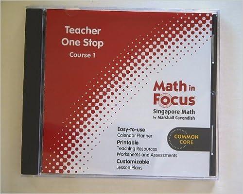 Amazon.com: Math in Focus: Singapore Math: Teacher One Stop CD-ROM ...