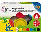 Marabu 042100088 - Fingerfarbe, 6 x 35 ml