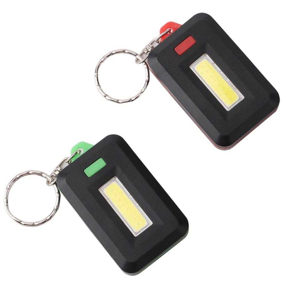 Lixada Mini Linterna LED Llavero Luz de Flash Peque/ña L/ámpara Antorcha Luz de Emergencia