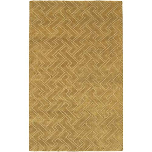 - Kittery Solid Stripes 5' x 8' Rectangle 100% Semi-Worsted New Zealand Wool Black/Dark Brown/Camel/Tan Area Rug