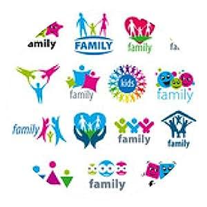 alfombrilla de ratón gran conjunto de logotipos vectoriales familia - ronda - 20cm