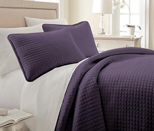 Southshore Fine Linens 3 Piece Oversized Quilt Sets (Queen, Purple)