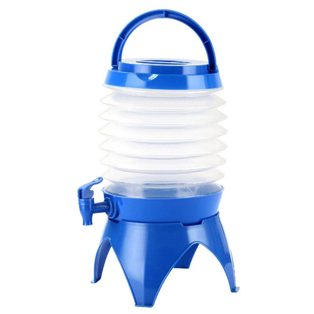 winomo camping Bidón Depósito de agua plegable cerveza Bebidas fässchen con suelo notebook y grifo para camping Viajes 5L (Azul)