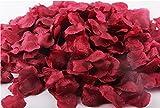 Ballg 5000 Slice Wine Red Silk Rose Petals Artificial Flower Wedding Party Vase Home Decor Bridal Petals Rose Favors