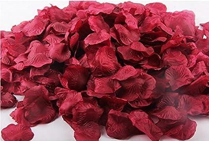 Amazon Com Ballg 5000 Slice Wine Red Silk Rose Petals Artificial