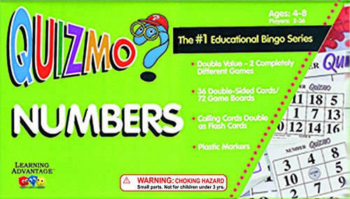 Learning Advantage 8232 QUIZMO Numbers Card (Card Advantage compare prices)