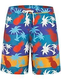 5d3fdda357 Mens Printed Funny Swim Trunks Quick Dry Beachwear Sports Running Swim  Board Shorts Mesh Lining
