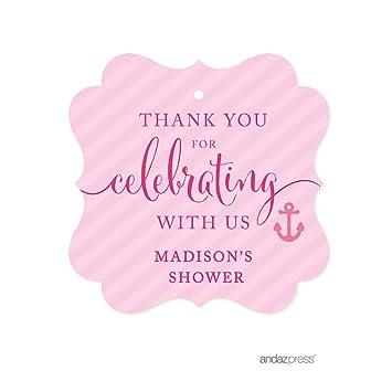 Amazon Andaz Press Pink Girl Nautical Baby Shower Collection