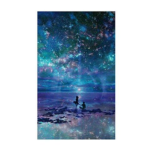 Healifty Kit Punto de Cruz Diamante 5d Bricolaje Bordado Pintura Paisaje Cielo Nocturno