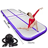 Best Tumbling Mats - 9.84ft/13.12ft/16.4ft/19.68ft/3.28ft air track tumbling mat inflatable gymnastics airtrack Review