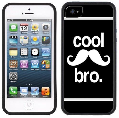 Cooler Schnurrbart Bro   Handgefertigt   iPhone 5 5s   Schwarze Hülle